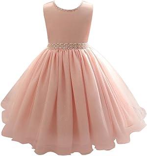 Zhuhaitf 高品質 Kids Baby Girls Sleeveless Dress Flash Powder Tulle Princess Formal Party Wedding Bridesmaid ドレス for 0-6 year old