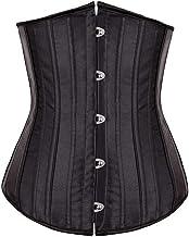 Zwart/Naakt Taille van vrouwen Trainer Afslanken Waist Shaper 26 Spiral Steel zonder been Corset Size XXS-XXL 8001# (Color...