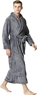 JZLPIN Unisex Adult Flannel Bathrobes Sleepwear Warm Dressing Gown Housecoat