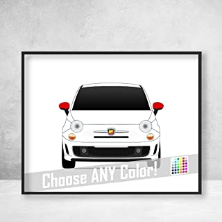 fiat 500 abarth poster
