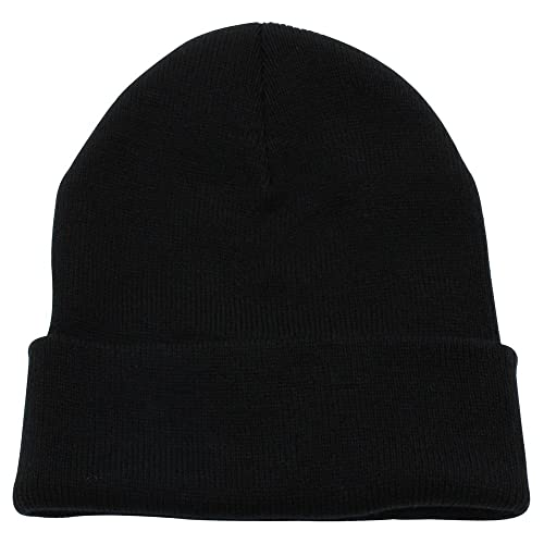 Top Level Beanie Men Women - Unisex Cuffed Plain Skull Knit Hat Cap 1855bc1a13b
