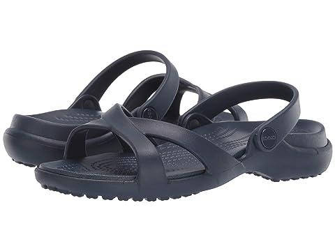 5156fdff7 Crocs Meleen Crossband Sandal at Zappos.com