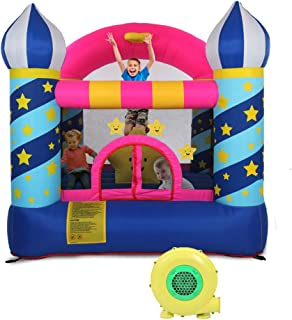 Kcelarec Inflatable Castle Kids Outdoor Bouncy House Toddler Bounce House with Air Blower