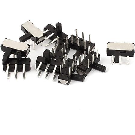 10pcs 2Position 3P SPDT SMT SMD Selbsthemmend Mini Strom Schiebeschalter 9x3x3mm