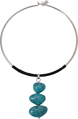 Turquoise Totem Round Wire Necklace