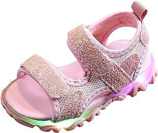 YWLINK Sandalias De Verano para NiñOs Fondo Suave Antideslizante Zapatos Led Zapatillas Deportivas De Playa Comodo Zapatos Planos Zapatillas Casuales Fiesta De Carnaval Regalo De CumpleañOs