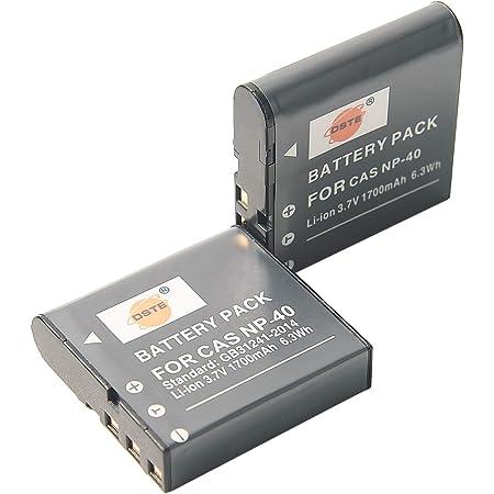 DSTE? アクセサリ Casio NP-40 互換 カメラ バッテリー 2個 対応機種 Exilim EX-FC100 EX-FC150 EX-FC160S EX-Z400 EX-Z100 EX-Z1000 [並行輸入品]