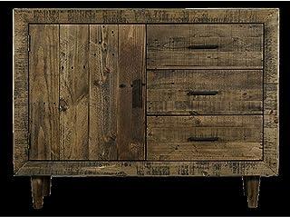 Etnicart Cassettiera a Mezzaluna in Legno massello-120x67x45-LEGNO MASSELLO