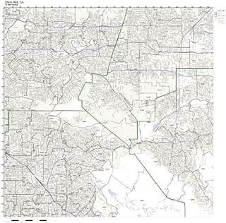 Chino Hills, CA ZIP Code Map Laminated