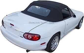 Sierra Auto Tops Convertible Soft Top Replacement, compatible with Mazda Miata MX5 1990-2005, w/Heated Glass Window, Cabrio Vinyl, Black