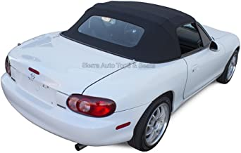 Sierra Auto Tops Convertible Soft Top Replacement, compatible with Mazda Miata MX5 1990-2005, w/Heated Glass Window, Cabrio Vinyl, Black
