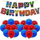 SUNSK Geburtstag Deko für Spiderman Party Luftballons Spiderman Happy Birthday Banner für Avengers Party Decorations Kinder Geschenk 21 Stück
