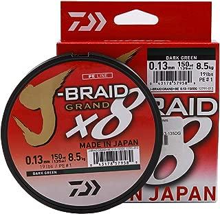 Daiwa J-Braid Grand 8-Braid 135 Meter Fil de P/êche Tress/é Gris Clair
