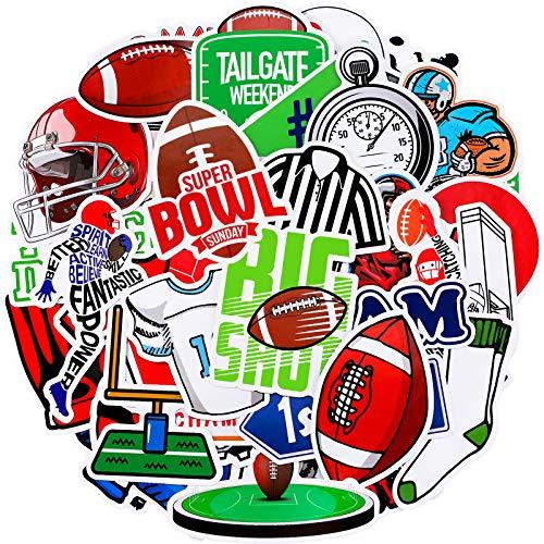 100 Stück Fußball-Aufkleber Wasserdicht Vinyl Sport Aufkleber Laptop Fußball Decals Cute Fußball Spiel Aufkleber Set für Wasserflasche, Laptop, Telefon, Computer, Gepäck