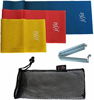 j/fit Exercise Bands Set of 3 with Clip - 5' Length