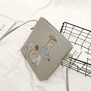 Docooler New PU Leather Shoulder Bag for Women Cute Cartoon Print Casual Crossbody Bags Girls Mini Bag Tote