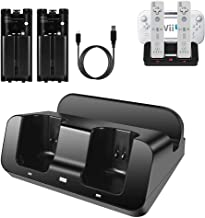 $33 » Wii U Charger, Wii Charging Station Wii Dock Stand for Wii Remote & Wii U Gamepad, 2pcs 2800mAh Batteries & Charging Cord ...