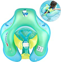 Nicewell Baby Swimming Float Ring - Crotch Strap Safe Underarm Inflatable Floats for Bathtub and Swimming Pool Suitable for 3-12 Month, Size Small