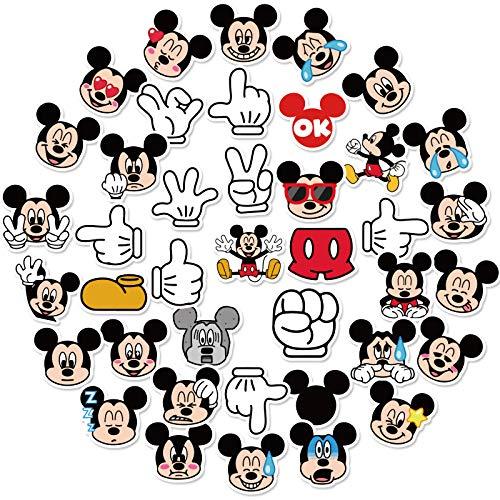JZLMF 40 pegatinas de dibujos animados Mickey Mouse, para maleta, ordenador portátil, móvil, pegatinas, 40 unidades