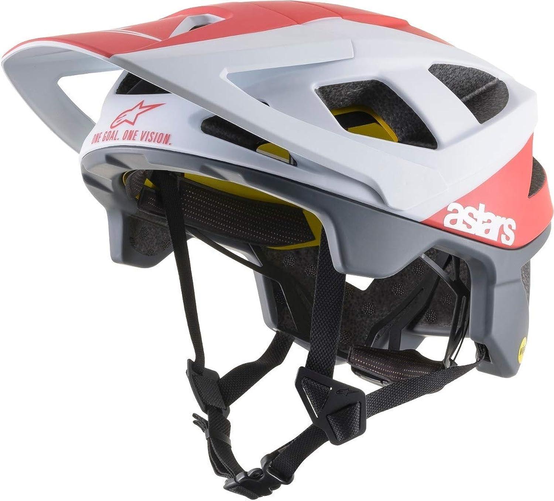 Alpinestars Pilot Black White Cool Grey Gloss 2019 Vector Tech MIPS MTB Helmet
