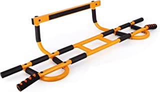 Profit Fitness Doorway Pull Up Chin Up Bar Door Gym Upper Body Workout Trainer Bar Maximum Stability-Weight Load of 600lbs-16 Grip Position-Easy and Quick(4 Screws) to Setup Anywhere Home Workout