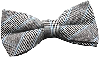 Flairs New York Flannel and Tweed Collection Bow Tie & Pocket Square Matching Set