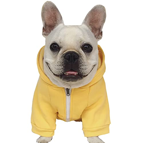 051f46e9480af Moolecole Zip-up Hoodie Pet Costume Dog Clothes Outfit Funny Pet Apperal  For French Bulldog