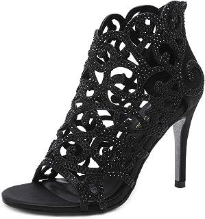 Women Pumps Bridal Shoes Crystal High Heels Rhinestone...