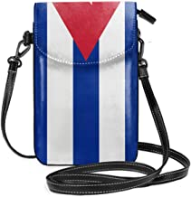 WAUKaaa Flag of Cuba Leather Cell Phone Purse Holder Wallet Functional Multi Pocket For Women