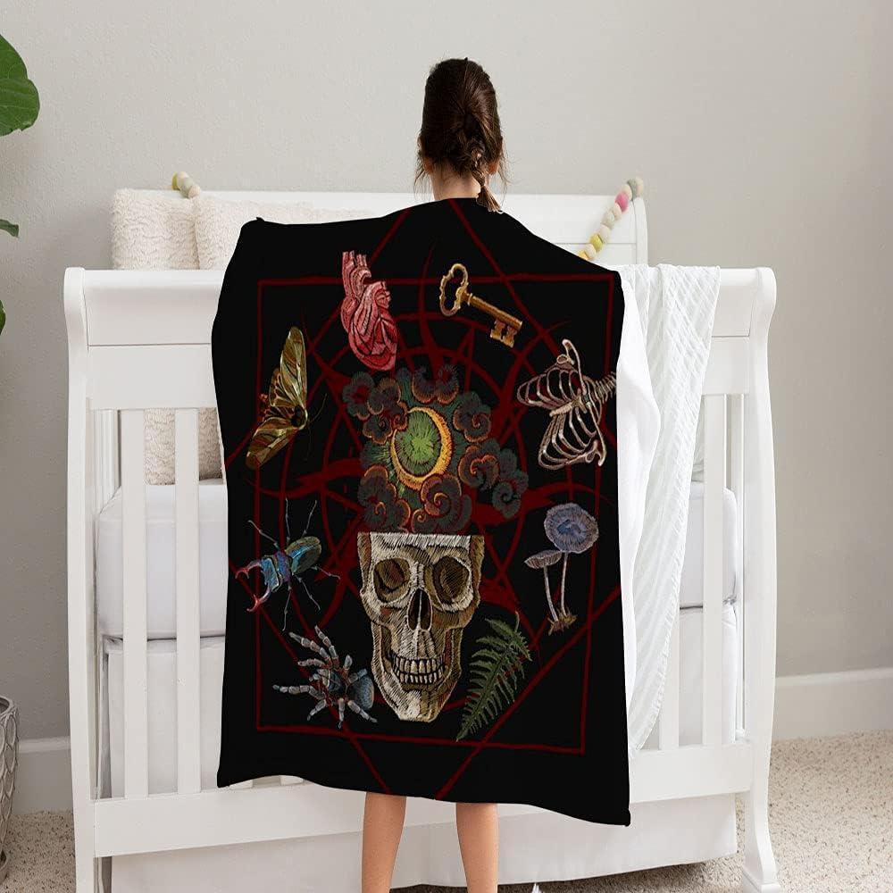 LPVLUX Alchemy Art Rapid rise Human Skull Moon Super Classic Keys Soft Blanket and