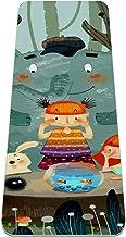 Yoga Mat Antislip TPE cartoon bos dieren Hoge dichtheid vulling om pijnlijke knieën te voorkomen, Perfect voor yoga, pilat...