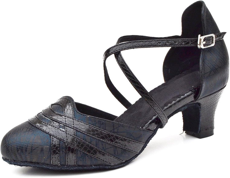 2d38626cf Misu Women's Closed Toe Suede Sole Latin Salsa Tango Practice Ballroom  Dance shoes with 2.0 Heel