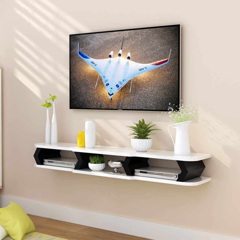 M-J Estante Flotante Soporte de Pared Gabinete para TV Rack de Almacenamiento de Fondo para el Reproductor de DVD/BLU-Ray Caja de TV Satelital Caja de Cable, B, 130cm: Amazon.es: Deportes y aire