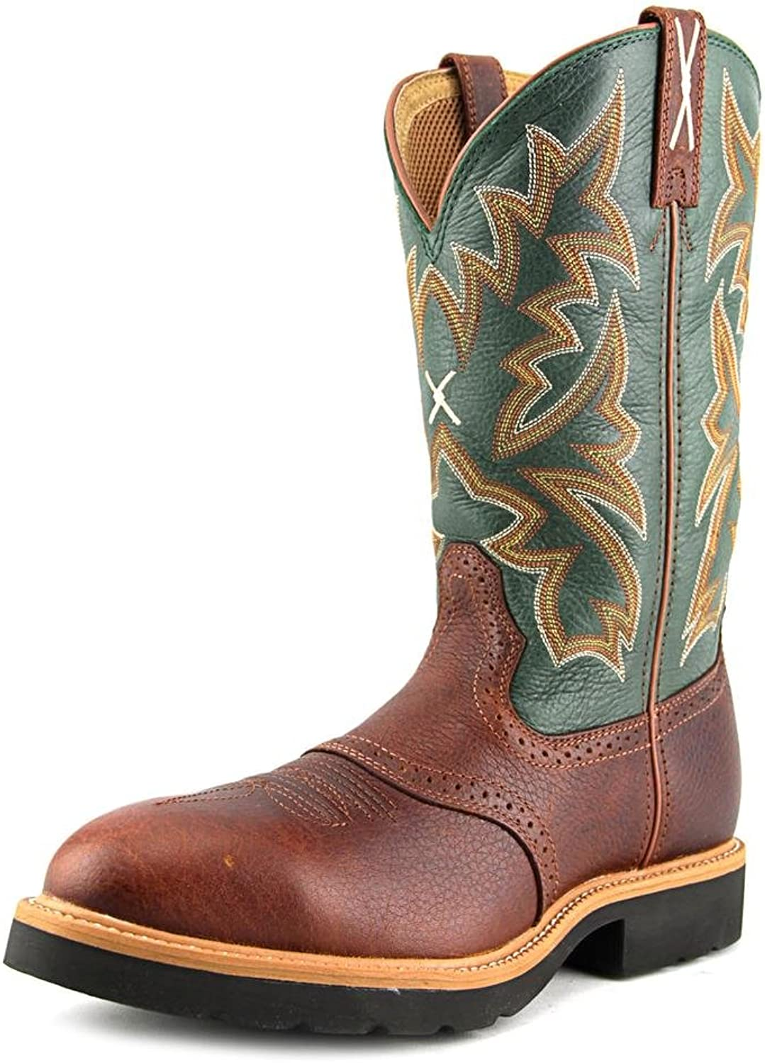 Twisted X Men's Saddle Vamp Pull-On Work Boot Steel Toe