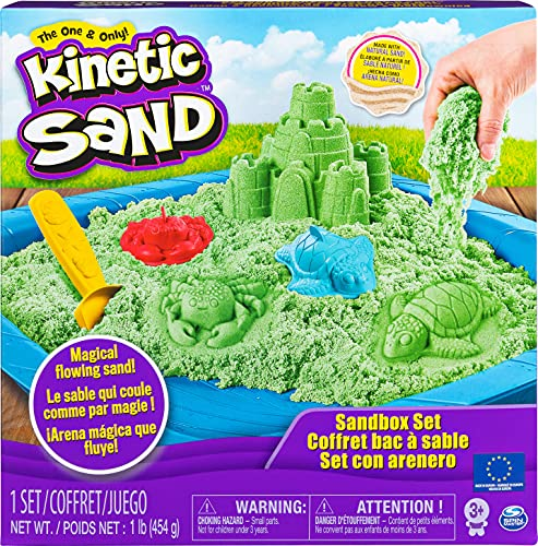 Kinetic - Set de Arena cinética y Caja, Color Verde (6029059)