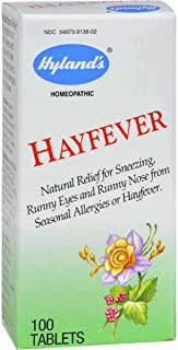 Hayfever Tablets by Hyland's, Natural Relief of Allergies or Hayfever, 100 Count
