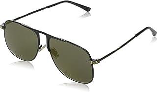 نظارات شمسية بتصميم مربع للنساء من جيمي تشو- عدسات ذهبية