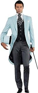 بدلة رجالي QZI مقاس نحيف بزر واحد 3 قطع بدلة فستان حفلة أعمال سترة وسروال