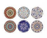 BOHORIA Premium Design Untersetzer 6er Set Dekorative Untersetzer fur Glas, Tassen, Vasen, Kerzen auf ihrem Holz-, Glas- oder Stein- Esstisch Boho Edition,Marrakech - 3