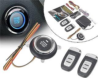 $43 » HIWOWSPORT 9pcs Car Keyless Entry Engine Start Alarm System Push Button Remote Starter Stop