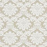 Fabulous Fabrics Jacquard beige, Ornament, 140cm breit