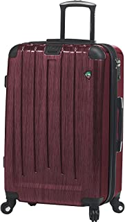Mia Toro Italy Lucido Pennello Hardside 26 Inch Spinner Luggage, Burgundy