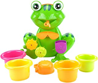 Baby Bath Toys, Comfortable Baby Water Spray Toy Cute Shower Bathtub Toy Safe Water Bathing Toy Fish Catching Game for Bab...