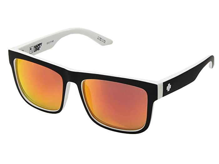 Spy Optic Discord (Whitewall/HD Plus Gray/Green/Red Spectra) Sport Sunglasses
