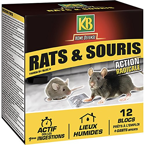 KB HOME DEFENSE, Blocs Appat Anti Rats...