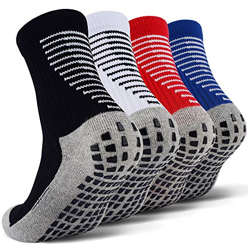 JHM Kids Slipper Hospital Grip Athletic Sport Sockcs for Ages 4 to 16