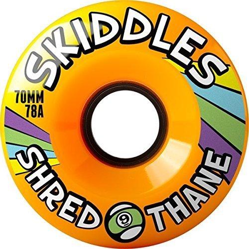 Sector 9skiddles Longboard Wheels–70mm 78A Orange by SECTOR 9