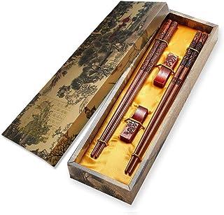 2 Paar Holz Essstäbchen mit Carving Design, mhkbd handgemac