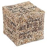 Inspirational Christian Bible Verses Sandstone Tabletopper Cube Block Decoration