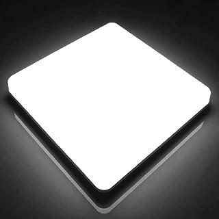 LED Plafonnier Carré Ketom 48W, Lampe de Plafond Moderne Ultra-mince Panel Blanc Froid 6500K, Luminaire LED IP44 Étanche 4...